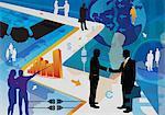 Illustrative representation of business collaboration