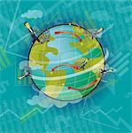 Online share trading across the world