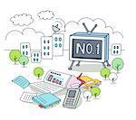 Illustration of television set
