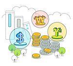 Illustration of monetary concept
