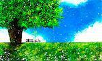 Single Tree Over Green Landscape