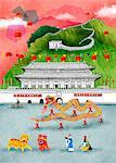Chinese Dragons Celebration