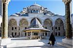 Turkey, Marmara, Istanbul, Fatih Mosque Courtyard