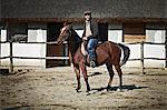 Man Riding A Horse, Baranja, Croatia, Europe