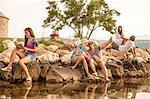 Croatia, Dalmatia, Young people at the seaside