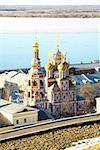 April view Stroganov Church Nizhny Novgorod Russia