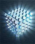 Quantum computing, conceptual computer artwork.