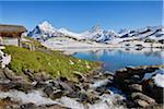 Bachalpsee with Wetterhorn, Lauteraarhorn, Schreckhorn, Finsteraarhorn and  Aletsch Glacier, Swiss Alps Jungfrau-Aletsch, Bernese Oberland, Canton of Bern, Switzerland