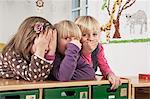 Three Children In Nursery School, Kottgeisering, Bavaria, Germany, Europe