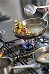 Frying Vegetable In Pan