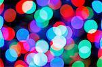 Coloured lights.