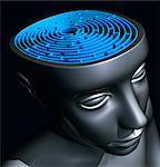 Confusion, conceptual computer artwork.