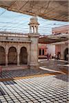 Courtyard of Shri Karni Mata Temple (temple of sacred rats) in Deshnoke, Bikaner, district, India
