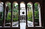 Courtyard inside Franciscan Monastery-Museum, Dubrovnik Old Town, UNESCO World Heritage Site, Dubrovnik, Croatia, Europe