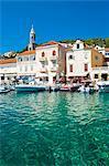 Adriatic Sea, Hvar town centre, Hvar Island, Dalmatian Coast, Croatia, Europe