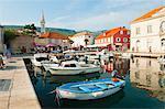 Jelsa Harbour, Hvar Island, Dalmatian Coast, Adriatic, Croatia, Europe