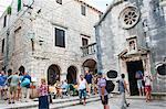 Church of St. Mihovila (Crkva sv Mihovila) in Korcula Town, Korcula Island, Dalmatian Coast, Croatia, Europe