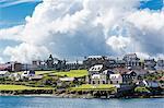 Views of the port city of Lerwick, Shetland Islands, Scotland, United Kingdom, Europe