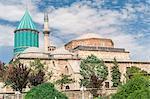 Mevlana (Rumi) mausoleum, Konya, Anatolia, Turkey, Asia Minor, Eurasia