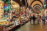 Egyptian bazaar, covered alley, Istanbul, Turkey, Europe