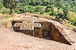 Monolithic rock-cut Church of Bete Giyorgis (St. George), UNESCO World Heritage Site, Lalibela, Amhara region, Northern Ethiopia, Africa
