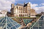 St. Eustache Church in the Halles District, Paris, France, Europe