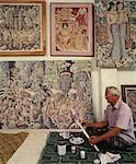 I Ketut Tungeh at the Tungeh Studio of Art, Ubud, Bali, Indonesia, Southeast Asia, Asia