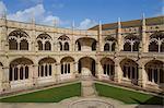 Cloisters, Jeronimos Monastery, UNESCO World Heritage Site, Lisbon, Portugal, Europe