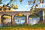 River Wye and Bridge, Builth Wells, Powys, Wales, United Kingdom, Europe
