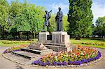 Statues Ynysangharad Park, Pontypridd, Mid-Glamorgan, Wales, United Kingdom, Europe