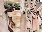 Gargoyles on Freiburg Cathedral, Freiburg, Baden-Wurttemberg, Germany, Europe, Europe