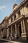Banco de Cordoba in an old colonial building, Cordoba City, Cordoba Province, Argentina, South America