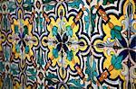 Tiles at Colegio Nacional de Monserrat, part of the Manzana Jesuitica, UNESCO World Heritage Site, Cordoba City, Cordoba Province, Argentina, South America
