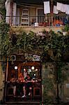 People sitting at a bar in the trendy Neve Tzedek neighbourhood, Tel Aviv, Israel, Middle East