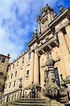 Mosteiro de San Martino Pinario in Old Town, Santiago de Compostela, Galicia, Spain, Europe