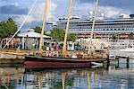 Spirit of Bermuda sloop in the Royal Naval Dockyard, Sandys Parish, Bermuda, Central America