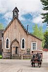 Historic old gold town, Barkersville, British Columbia, Canada, North America