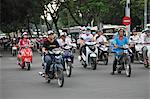 Traffic, motorbikes, Le Loi Boulevard, Ho Chi Minh City (Saigon), Vietnam, Indochina, Southeast Asia, Asia