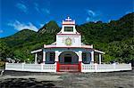 Church in Afono on Tutuila, American Samoa, South Pacific, Pacific