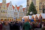 Christmas Market on Prinzipalmarkt, Munster, North Rhine-Westphalia, Germany, Europe