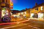 Castleton at Christmas, Peak District National Park, Derbyshire, England, United Kingdom, Europe