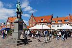 Torvet (Koge Torv) on market day, Koge, Zealand, Denmark, Scandinavia, Europe