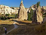 Fairy Chimneys, Cavusin, Cappadocia, Anatolia, Turkey, Asia Minor, Eurasia