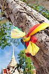 Prayer ribbon, Karon Beach, Buddhist Temple, Phuket Island, Phuket, Thailand, Southeast Asia, Asia