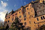 Landgrave castle, University Museum of Cultural History, in sunset light, Marburg, Hesse, Germany, Europe