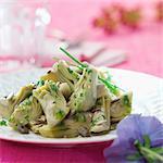 Artichoke salad with herbs