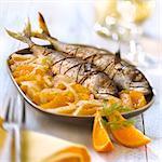 Stuffed mackerel with fennel and orange