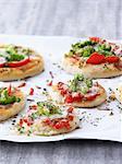 Mini broccoli pizzas