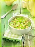 Mashed potatoes,peas and turnips with diced tofu