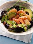 Avocado,shrimp and grapefruit salad